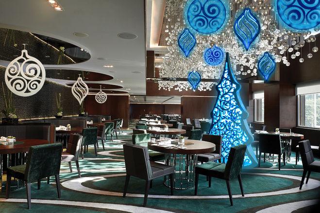 идеи оформления кафе, ресторана, зала к Новому году