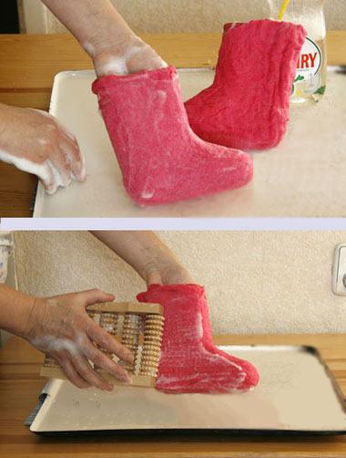 Как сделать валенку своими руками