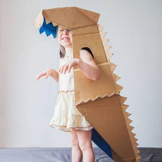 как сделать костюм динозавра