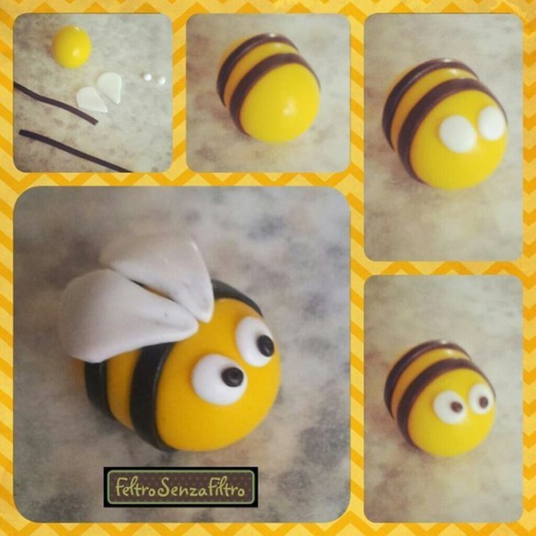 Как сделать из пчелу из шариков