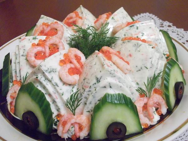 Необычный крабовый салат рецепт с