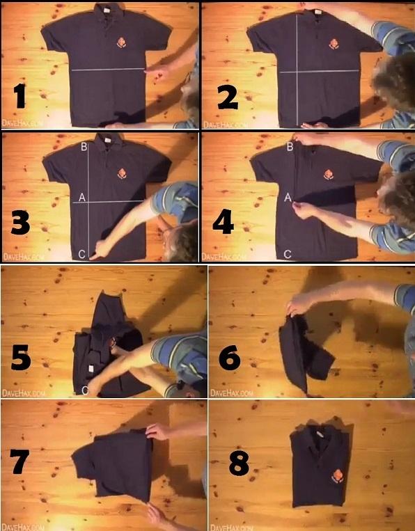 Как красиво свернуть футболку в подарок 87