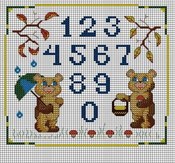 Схемы для вышивки бесплатно цифры