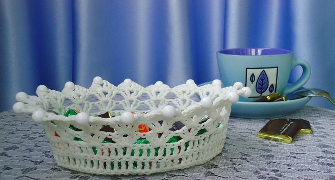 ваза для конфет крючком