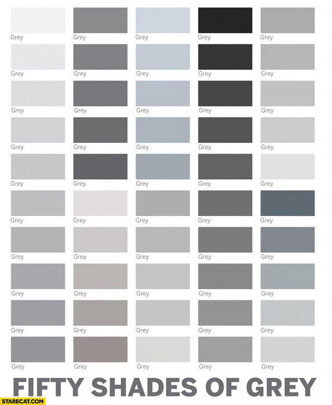 Оттенки серого цвета