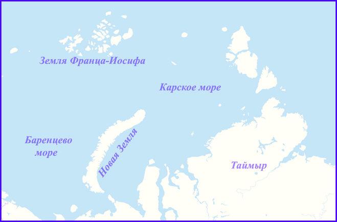 Новые острова в Карском море