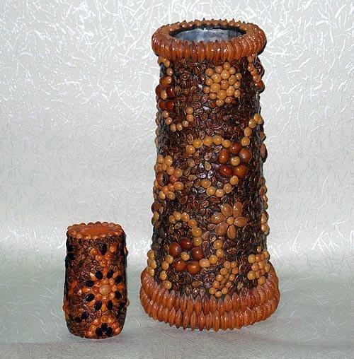 Поделки из природного материала вазы