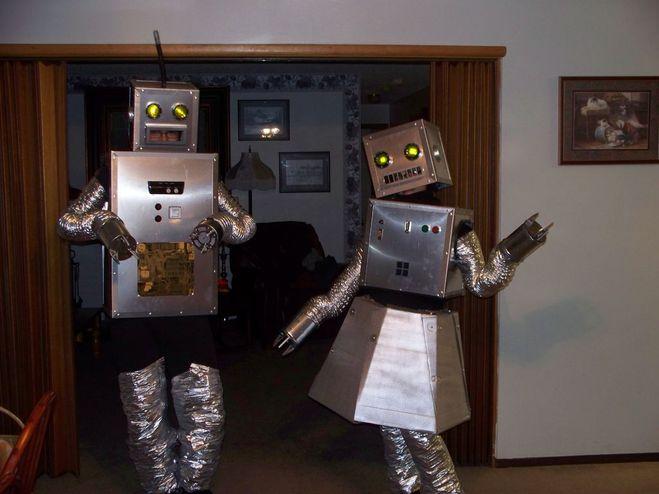 Новогодний костюм робота своими руками. « Мамин 85