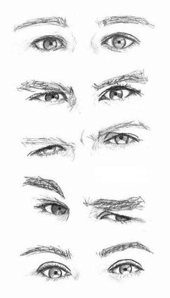 и еще схема рисунка глаз