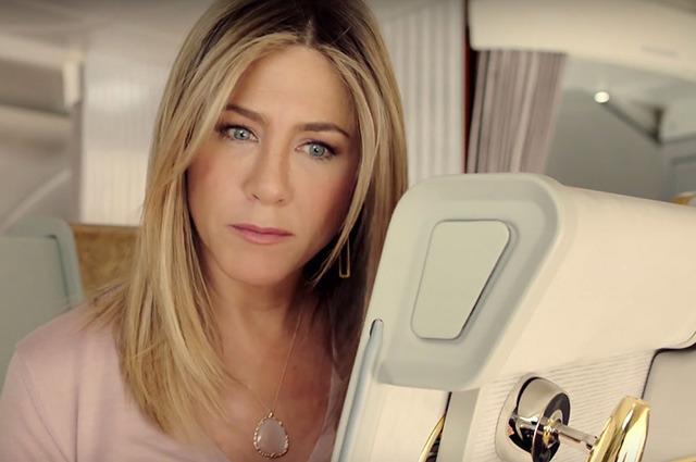 Дженнифер Энистон в рекламе авиакомании Emirates, где смотреть видео?