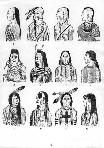 прически древней америки фото