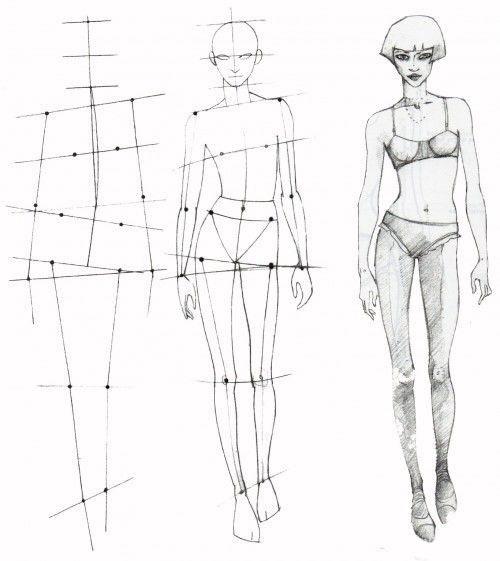 Схема рисунка женщины