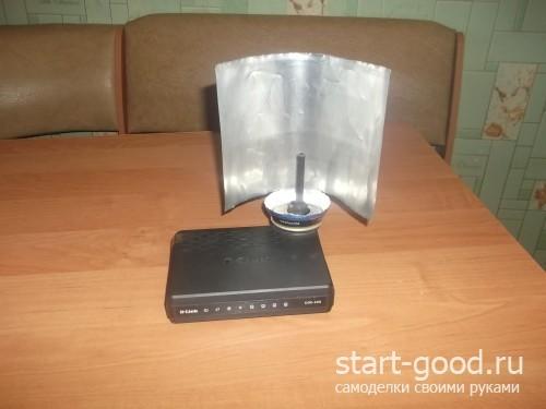 Усилить сигнал антенны wifi своими руками
