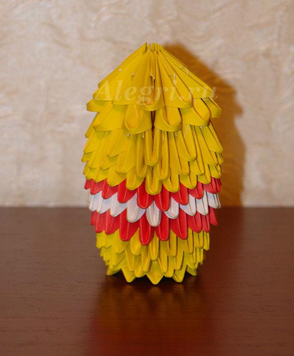яйца из модулей оригами
