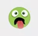 зеленый смайлик высунут язык