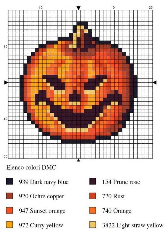 термомозаика на Хэллоуин