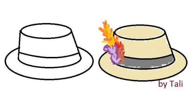 как нарисовать шляпу с