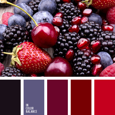 С каким цветом сочетается темно-красный цвет