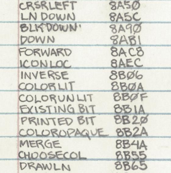 часть программы для компьютера Apple II