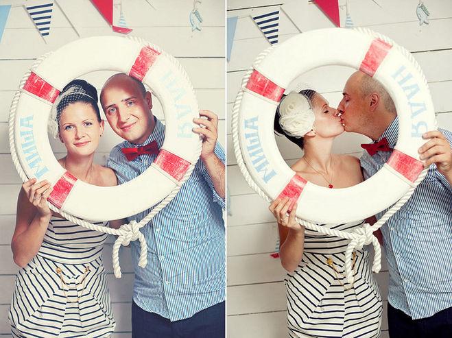 спасательный круг для морской фотосессии