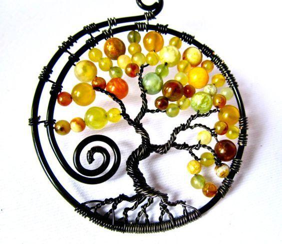 Плетение украшений из проволоки с бусинами