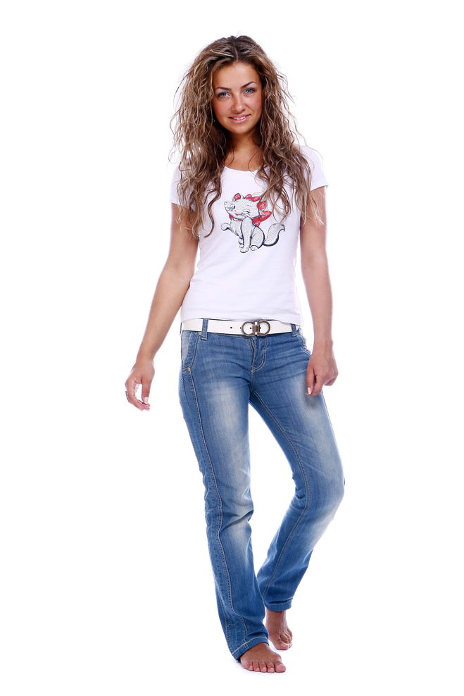 Фото девушек в джинсах и шляпе 17 фотография