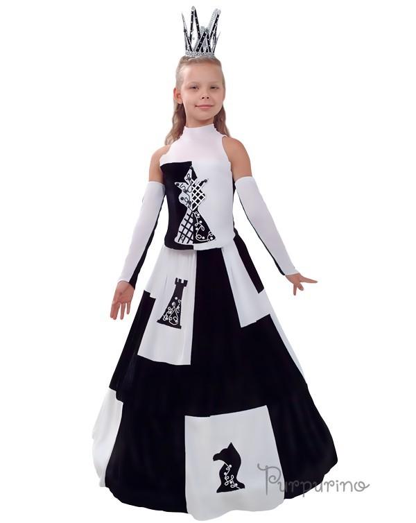 Как сшить новогодний костюм Шахматной королевы?