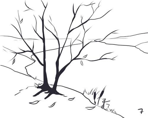 Рисовать дерево аэрографом