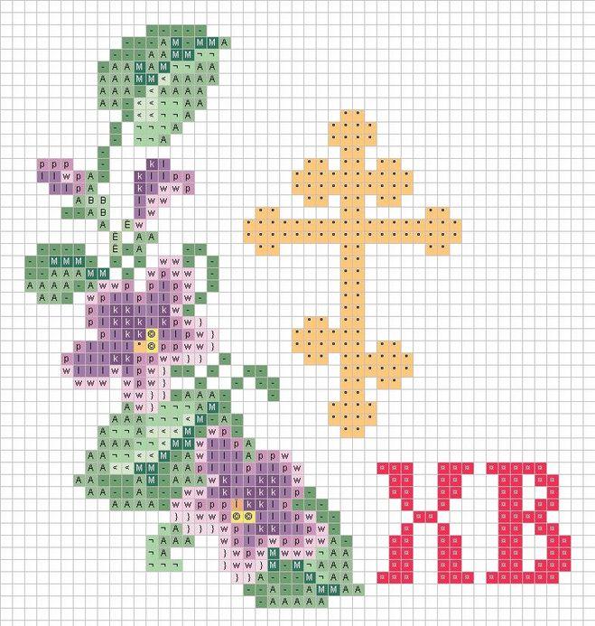 Схема рисования креста