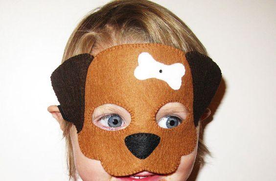 маска собаки из фетра
