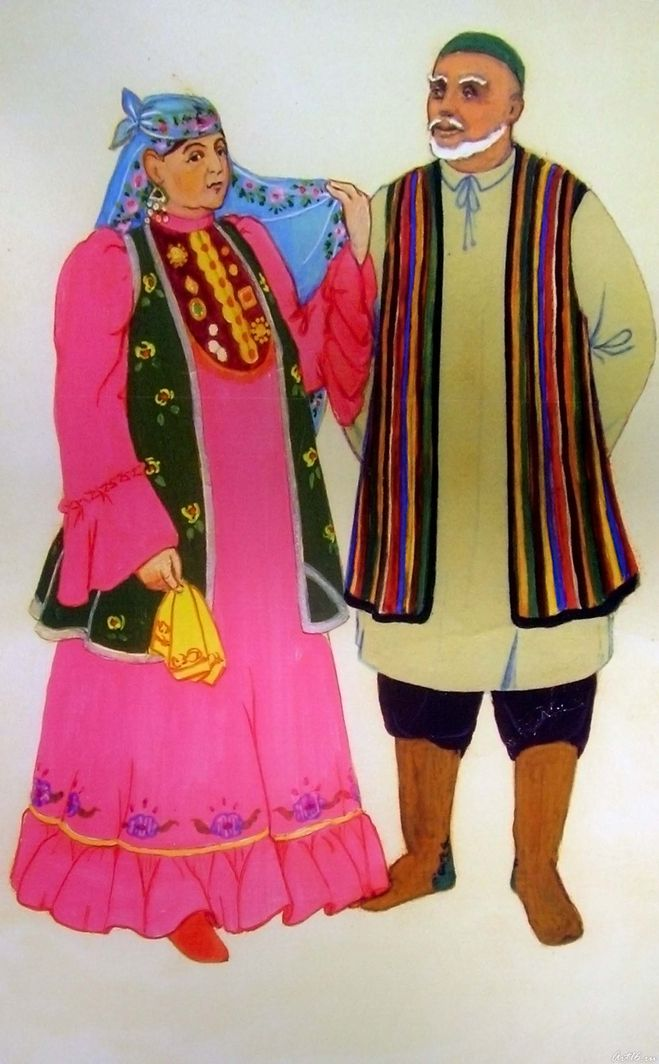 Татарский национальный костюм своими руками фото 887