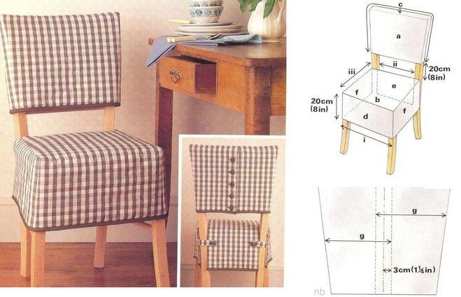 Как сшить чехлы на стулья своими руками выкройки 257