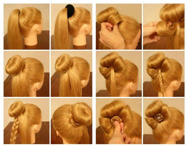 Как сделать на голове пучок из волос