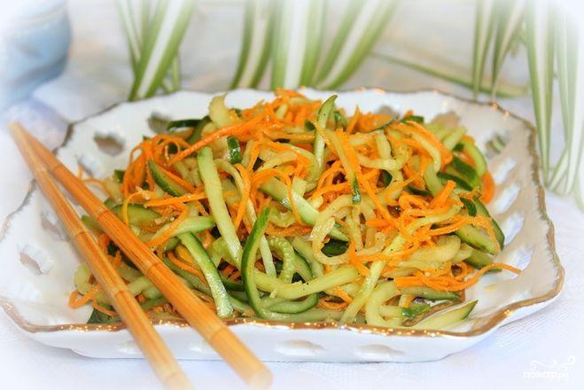 Салаты из огурцов капусты и моркови на зиму