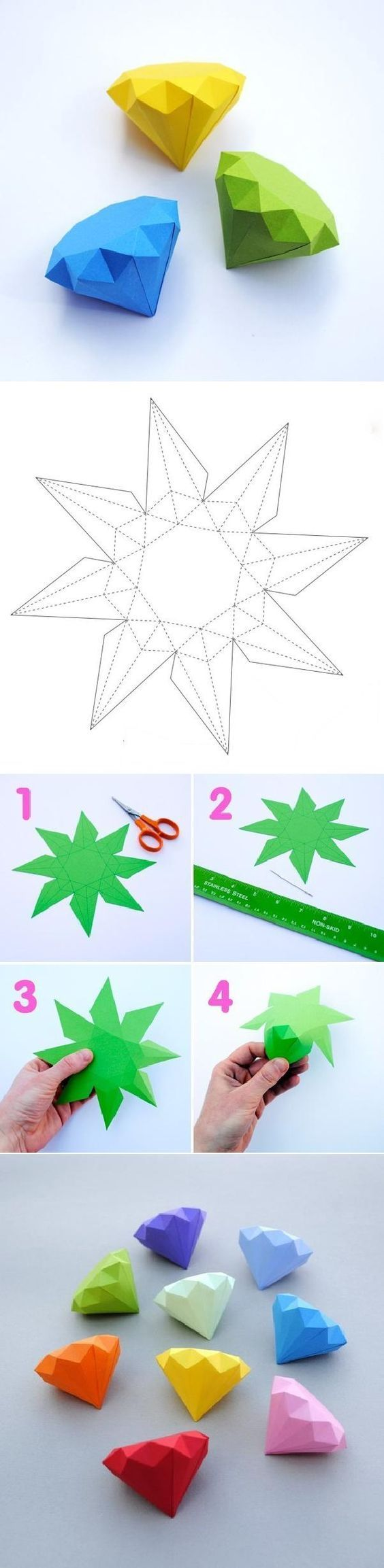 Поделки из геометрических фигур объемные своими руками фото 261
