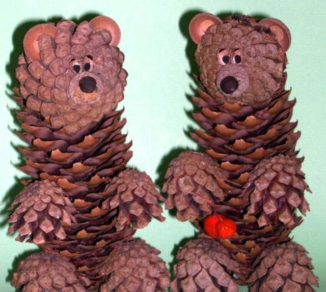 В детский сад поделки из шишек