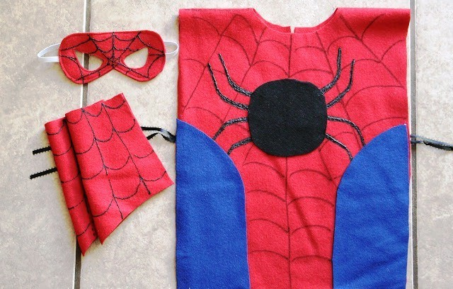Выкройка костюма человека паука своими руками