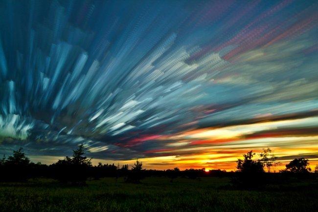 ночное небо акварелью