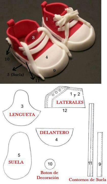 Как сделать кроссовки для мастика 694