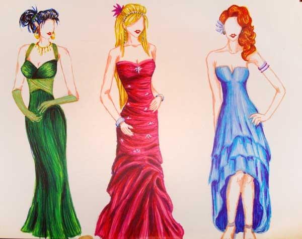 Рисовать женщину в платье