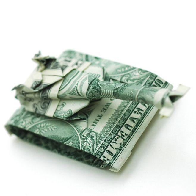 подарок на 23 февраля своими руками танк оригами из денег