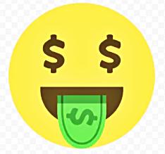 смайлик доллары