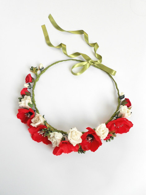 Цветы для венков на голову своими руками