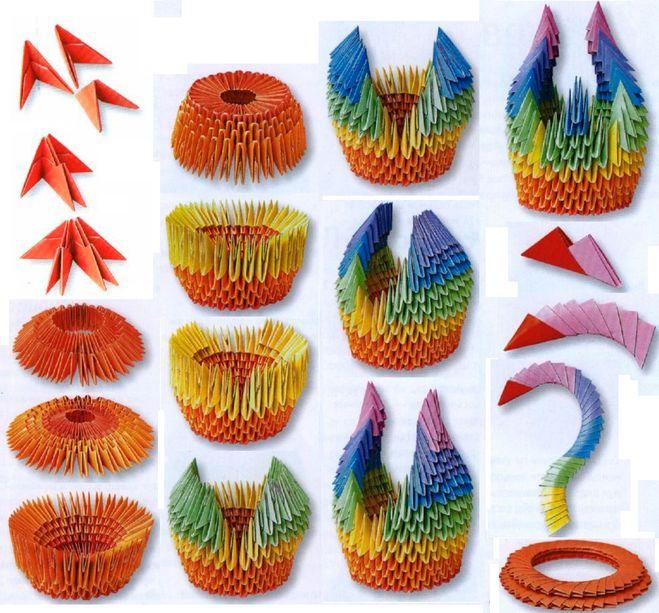 Как сделать лебедя из модулей оригами