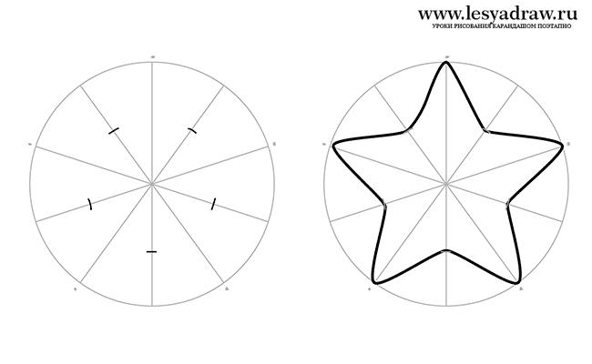 95Как нарисовать звезд карандашом поэтапно