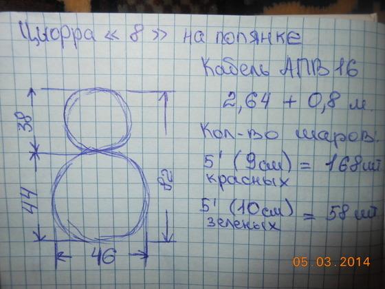 Цифра из шаров пошагово