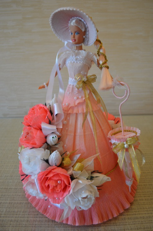 Куклы из конфет своими руками пошаговое фото для начинающих