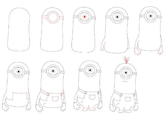 Как научиться рисовать миньонов