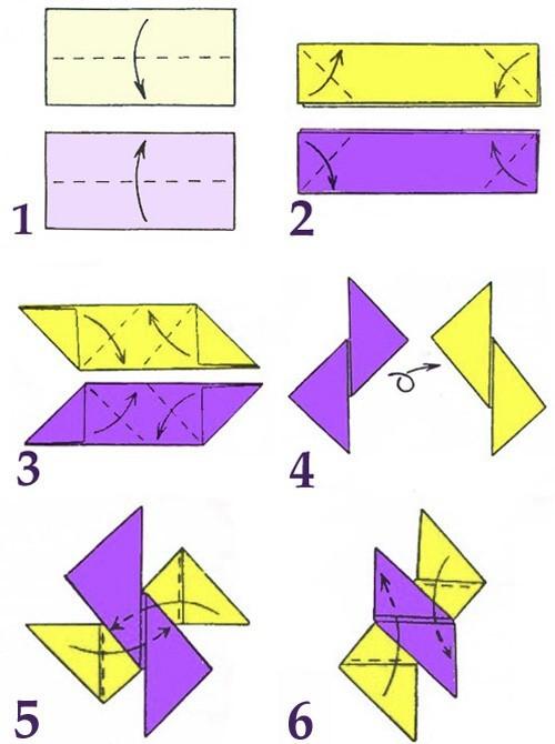 Видео как сделать сюрикены из бумаги