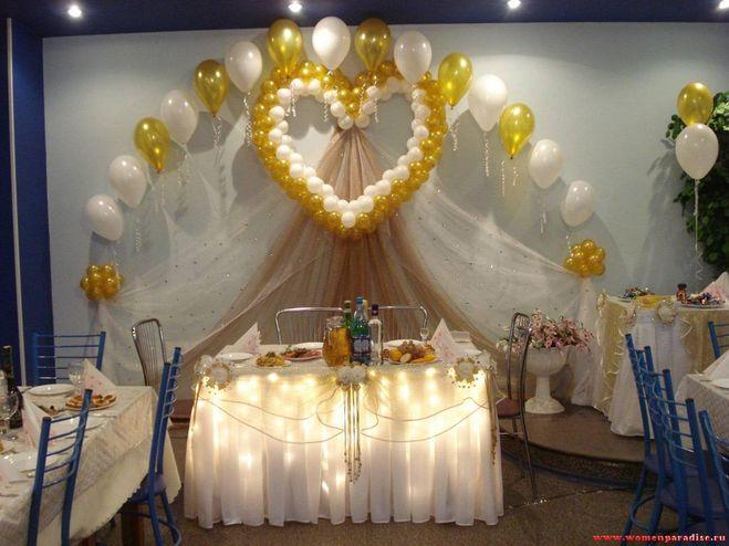 Как сделать украшение на свадьбу в зал